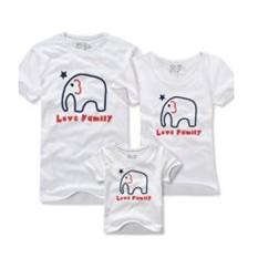 """Парные футболки """"Любовь, похожая на слон"""""""