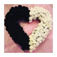Декоративное украшение Валентинка Yin Yang
