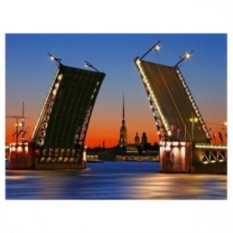 Картина-раскраска по номерам на холсте Мост