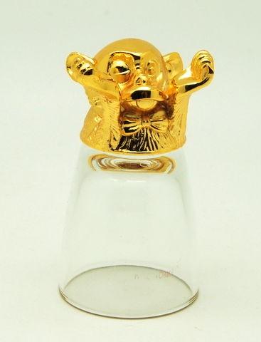 Золотая рюмка-перевертыш Обезьяна