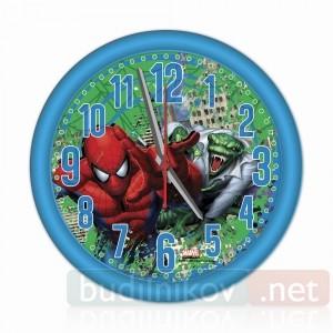Детские настенные часы Человек-Паук, синие