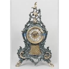 Синие с золотом часы из бронзы Луис