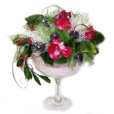 Конфетный букет Цветущая ваза