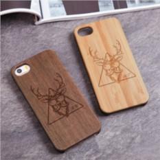 Деревянный чехол для iPhone Стильный олень с гравировкой