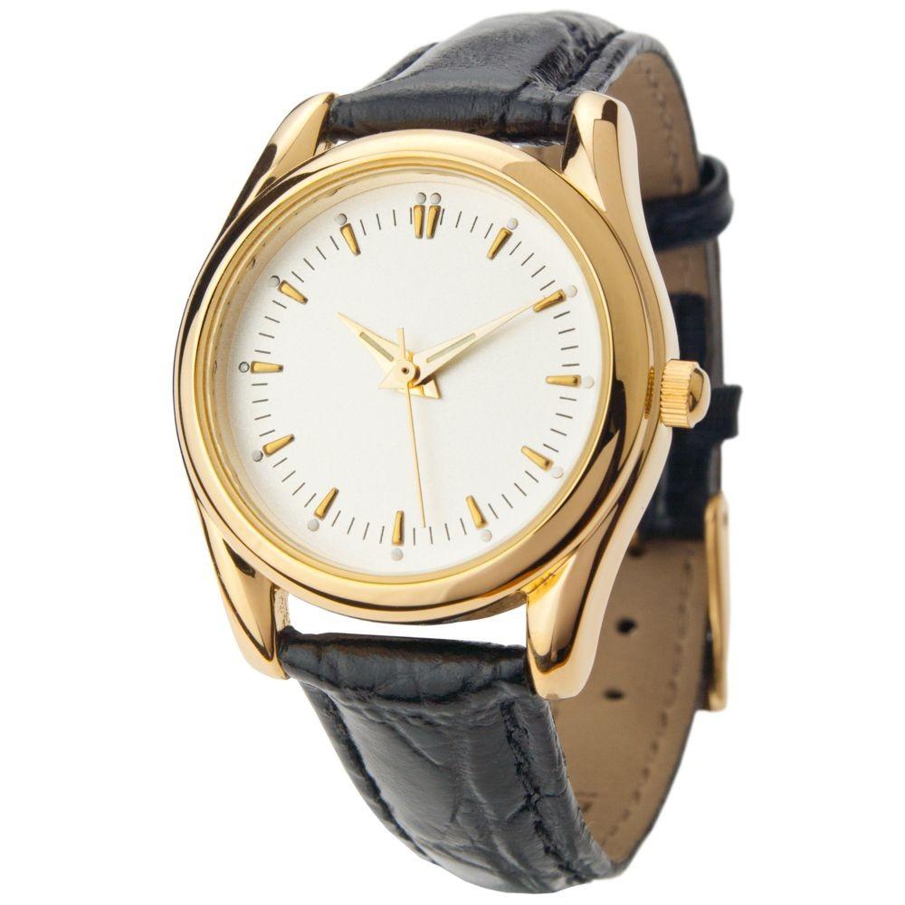 Часы наручные Ampir, женские, золото, черный ремешок