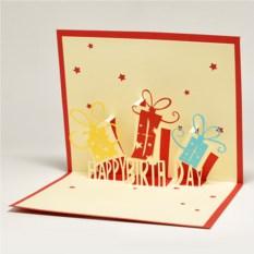 Объемная3D открытка С днем рождения.Подарок