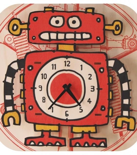 Настенные детские 3D-часы Робот 3