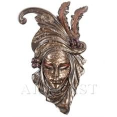Венецианская маска Маки (цвет: бронзовый)