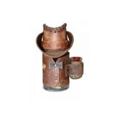 Пивная кружка в коричневом кожаном чехле Шериф