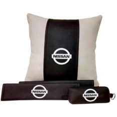 Набор из подушки и накладки на ремень и ключницы Nissan