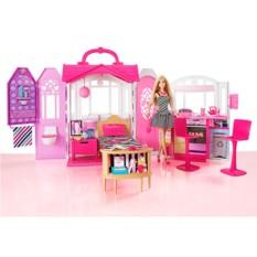 Переносной домик и кукла Barbie от Mattel