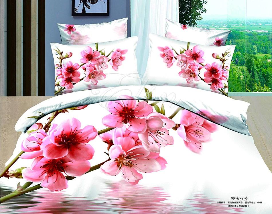 Сатиновое постельное белье Сакура (Elin)