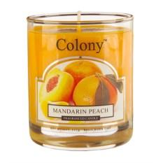 Ароматическая свеча Мандарин и персик в стекле