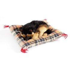 Декоративная фигурка Собачка на коричневой подушке