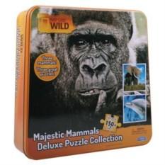 Пазл Три в одном: слон, горилла и дельфин (150 элементов)