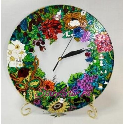 Авторские часы Вальс цветов