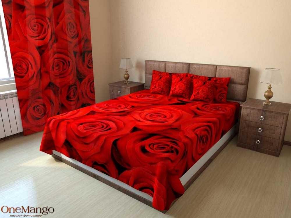 Фотопокрывало Красные розы