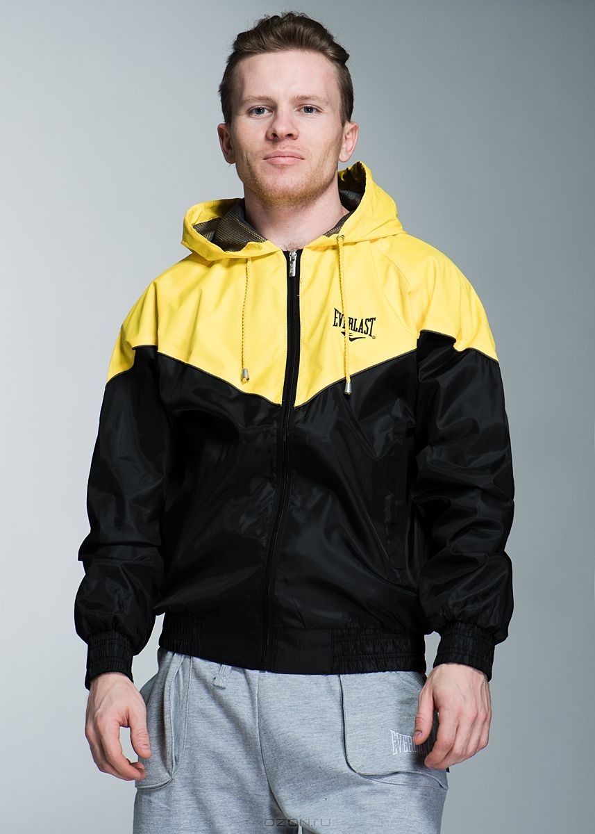 Куртка, черно-желтая. Размер: 48/50