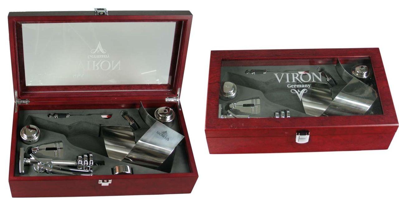 Подарочный набор сомелье Viron в деревянном футляре (5 предметов)