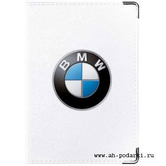 Обложка на автодокументы БМВ (белая)