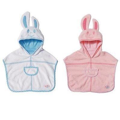 Банный халат Зайка для куклы Baby Born