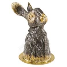 Стопка-перевертыш «Заяц» из серебра с золочением