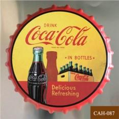 Декоративная пивная крышка Coca-cola yellow