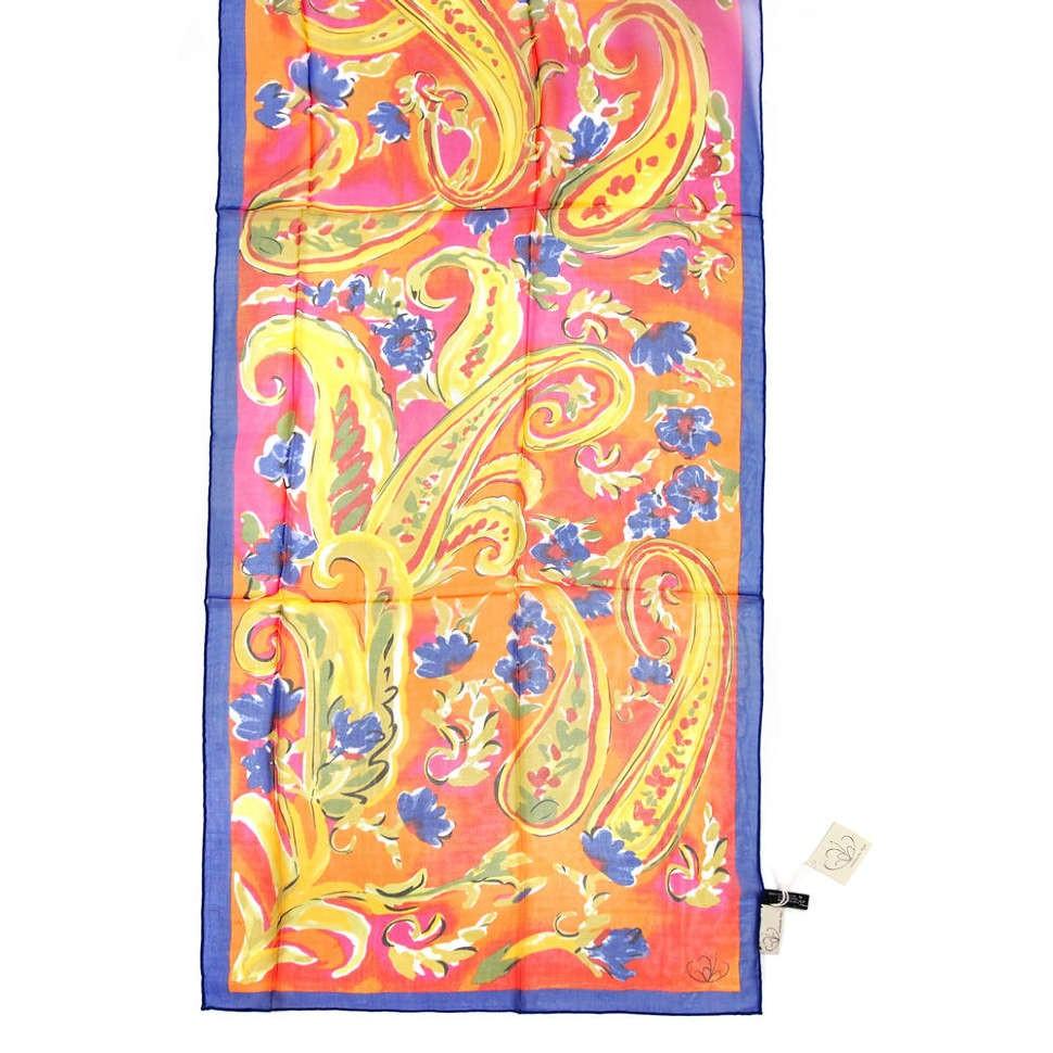 Яркий шарф с разноцветным дизайном Gaia