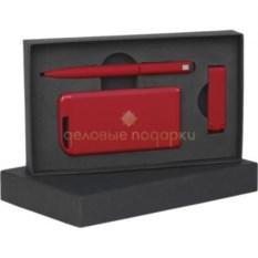 Красный прорезиненный набор в футляре