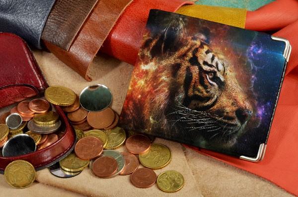 Портмоне с принтом Космический тигр