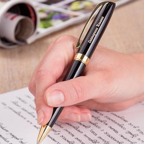 Ручка Легенда (чёрная с золотистыми элементами)