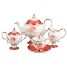Чайный сервиз на 6 персон Весенняя роза