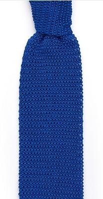 Синий галстук Sozzi вязаный из шёлка