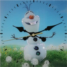 Часы с кристаллами Swarovski Летний снеговик