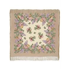 Павлопосадский шелковый платок Аромат любви