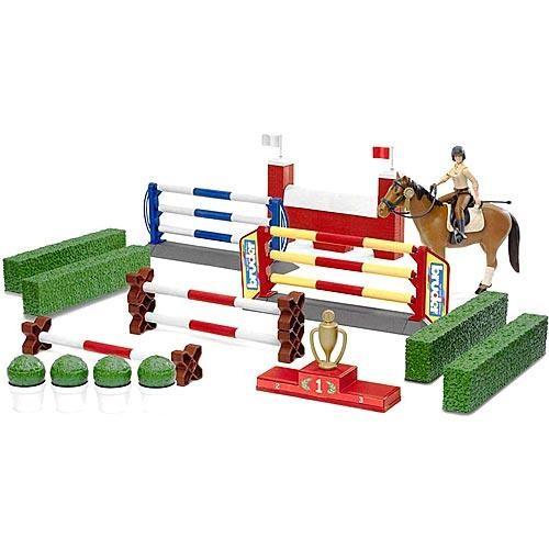Большой набор для скачек Bruder со всадницей и лошадью