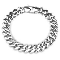 Серебристый браслет из ювелирной стали Spikes