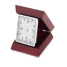 Коричневые настольные складные часы