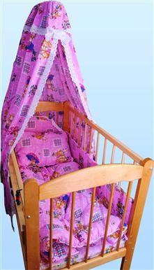 Набор в кроватку с одеялом и подушкой (поплин)