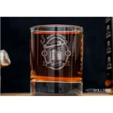 Именной стакан для виски «Завтрак победителя»