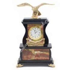 Часы из яшмы и долерита Орел