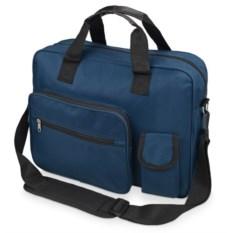 Синяя сумка для ноутбука с отделением для сотового телефона