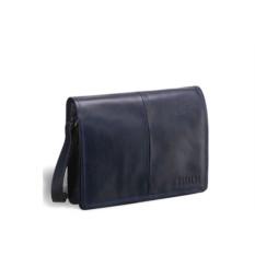 Кожаная синяя сумка через плечо Brialdi Ancona