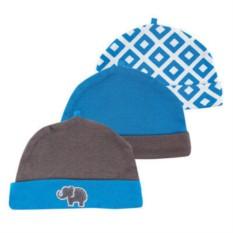 Комплект из трех шапочек Синий слон