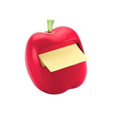 Блок-куб в пластиковом диспенсере яблоко красный