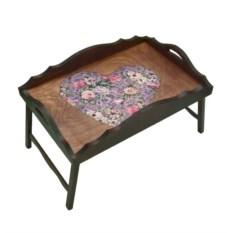 Столик для завтрака с фигурным бортиком Любящее сердце