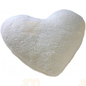 Подушка Меховое сердце