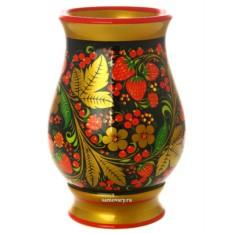 Деревянная ваза Ягодная поляна