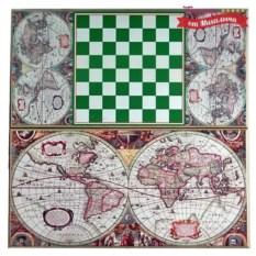 Подарочные нарды и шашки Античная карта мира