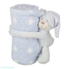 Плед с игрушкой «Голубой мишка», 100х75х13 см